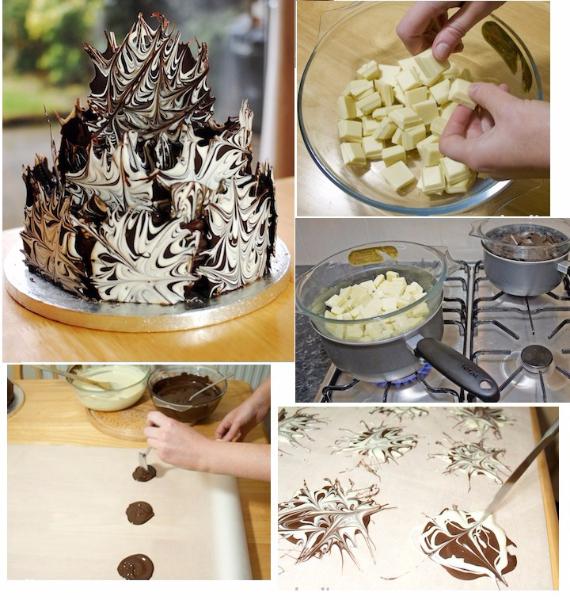 Как сделать шоколадный декор для тортов